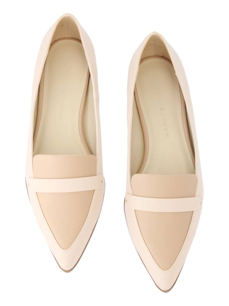 Loafers style different materials flat shoes