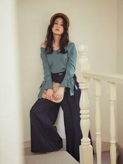 MERCURYDUO(マーキュリーデュオ) |Lee×MERCURYDUO WIDE TUCK PANTS 画像02