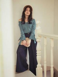 MERCURYDUO(マーキュリーデュオ) |Lee×MERCURYDUO WIDE TUCK PANTS 画像08