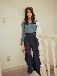 MERCURYDUO(マーキュリーデュオ) |Lee×MERCURYDUO WIDE TUCK PANTS 画像010