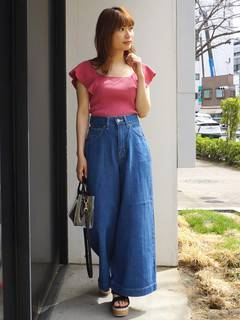 MERCURYDUO(マーキュリーデュオ) |Lee×MERCURYDUO DENIM WIDE PANTS 画像01