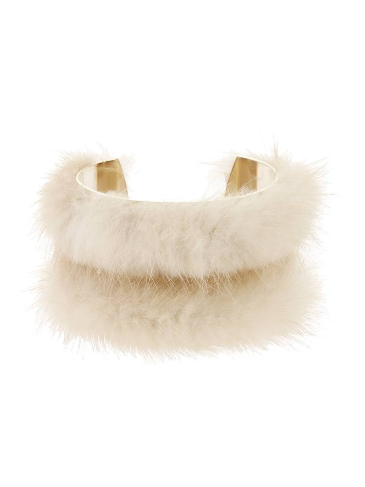 Mink fur bangle
