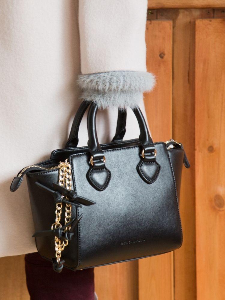 Ribbon shoulder 2way mini bag