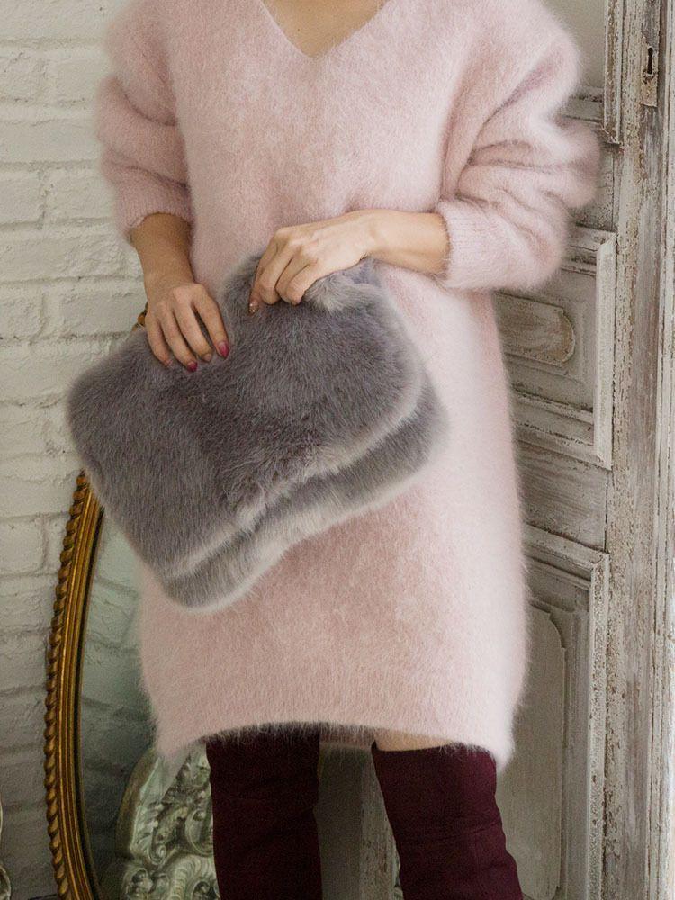 BIG fake fur clutch BAG