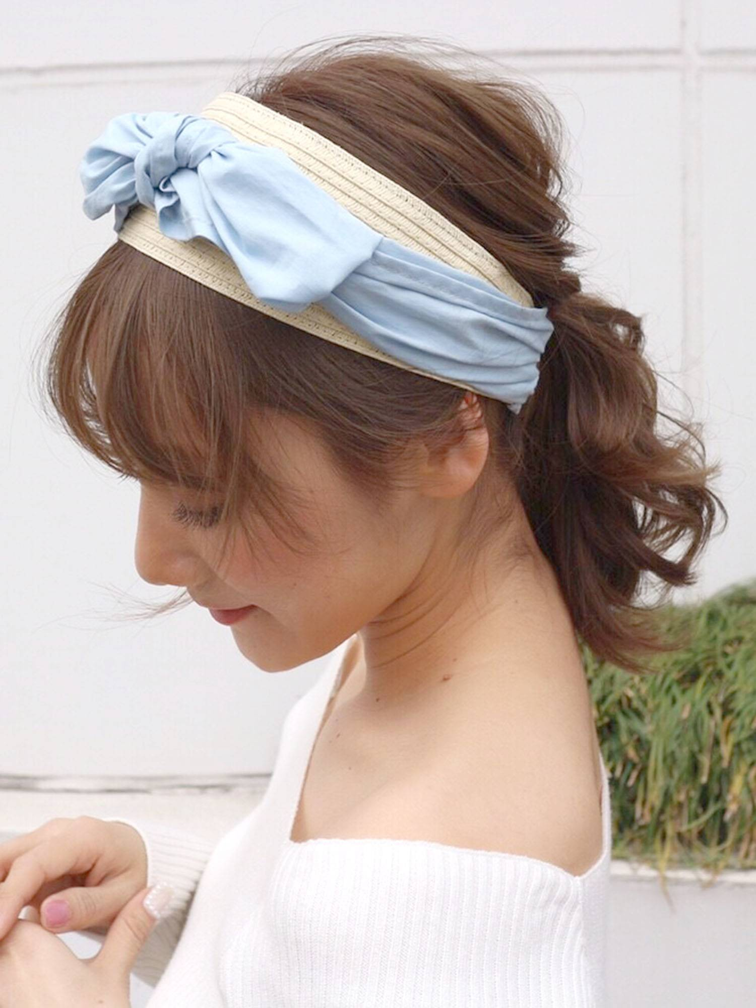 Paper ribbon Headband