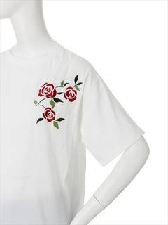 MURUA(ムルーア) |【CASUAL】rose embroidery TOPS 画像05