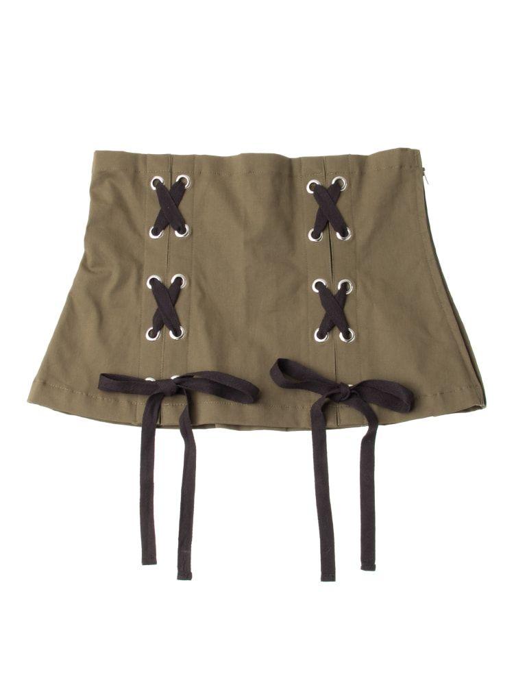 Lace-up corset