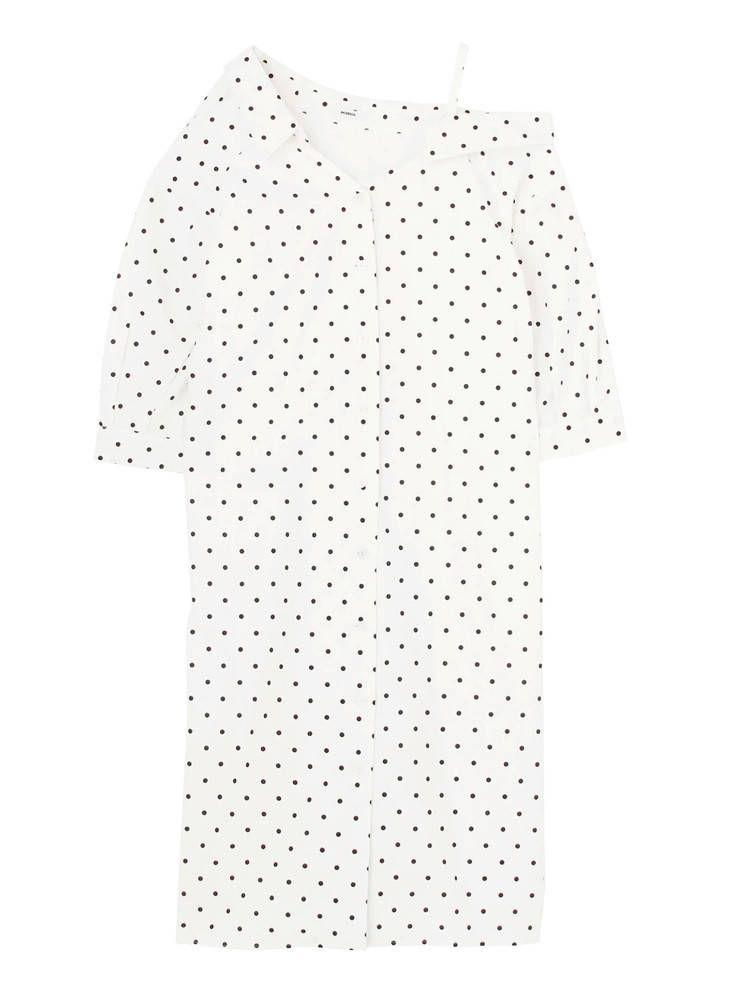 Irregular shirt dress