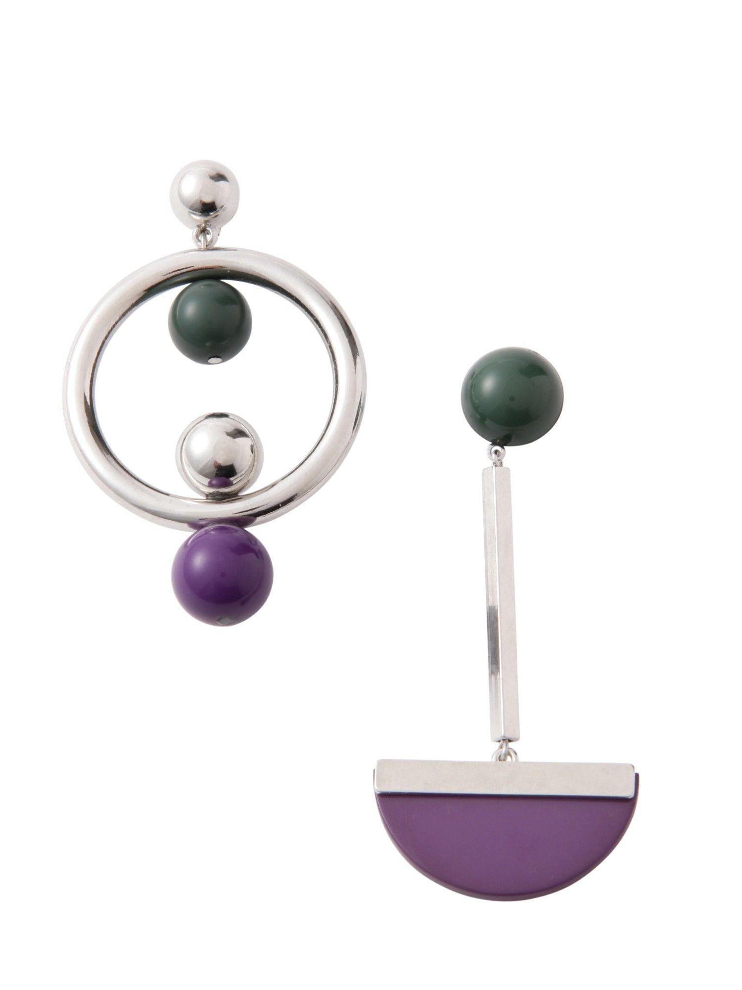 康貝圈耳環不對稱
