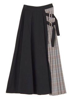 MURUA サイドベルトフレアマキシスカート