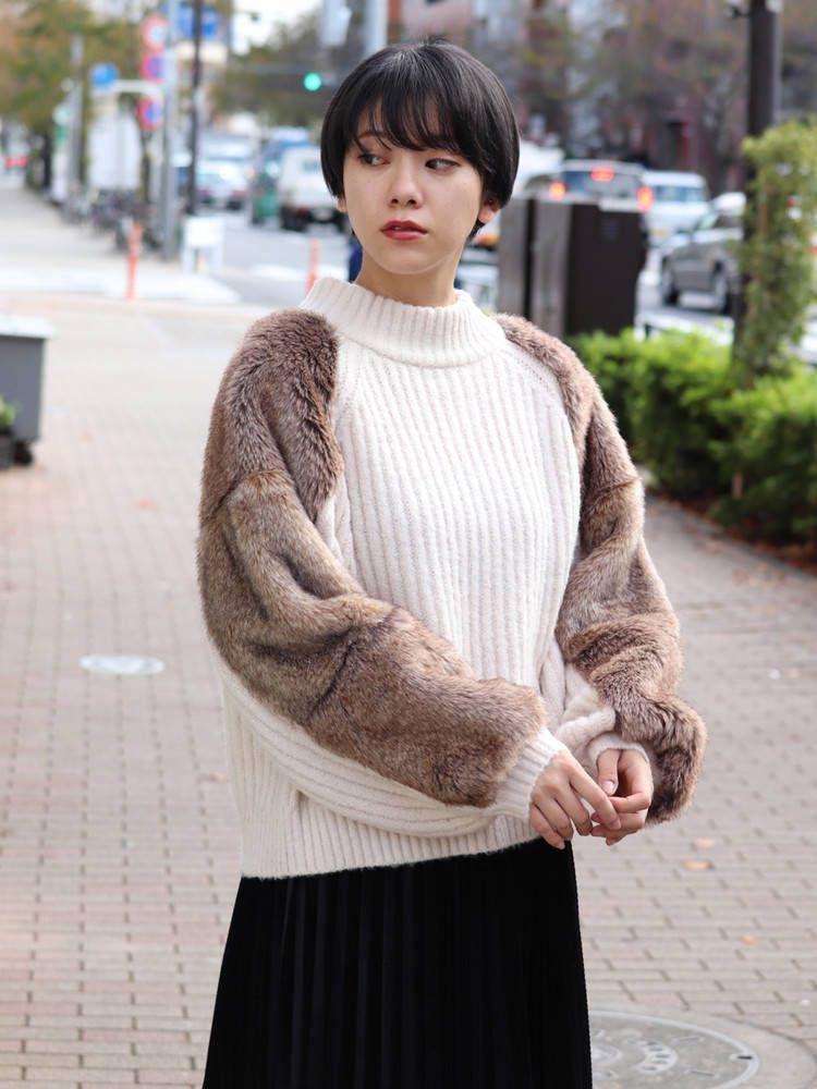 Fur sleeve knit docking