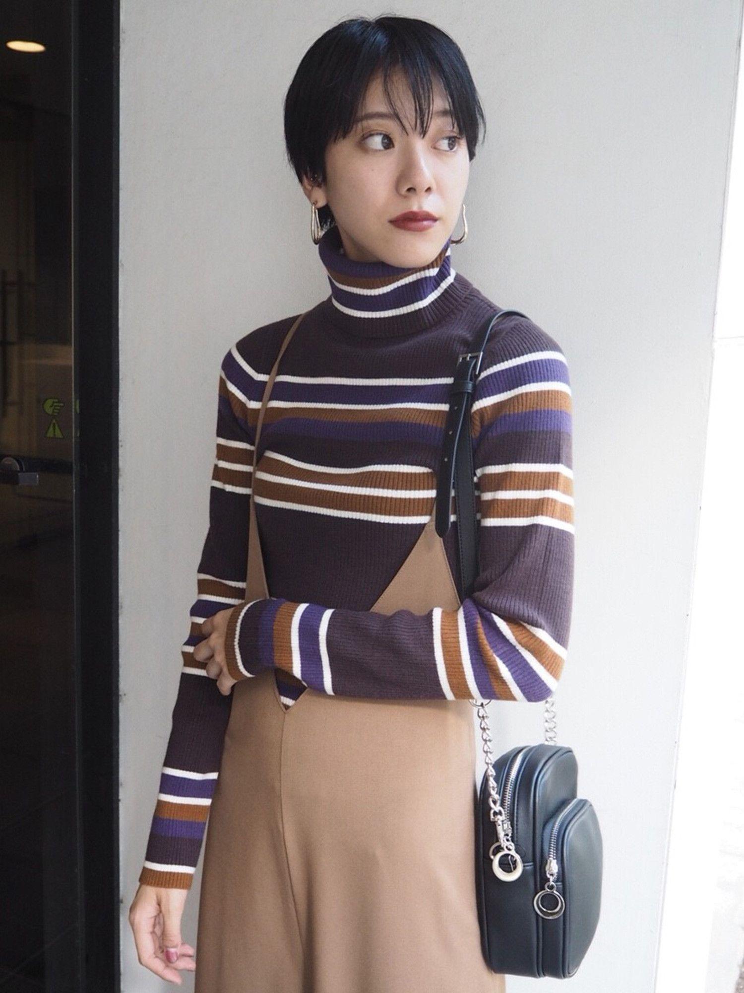 Multi-border Turtle knit