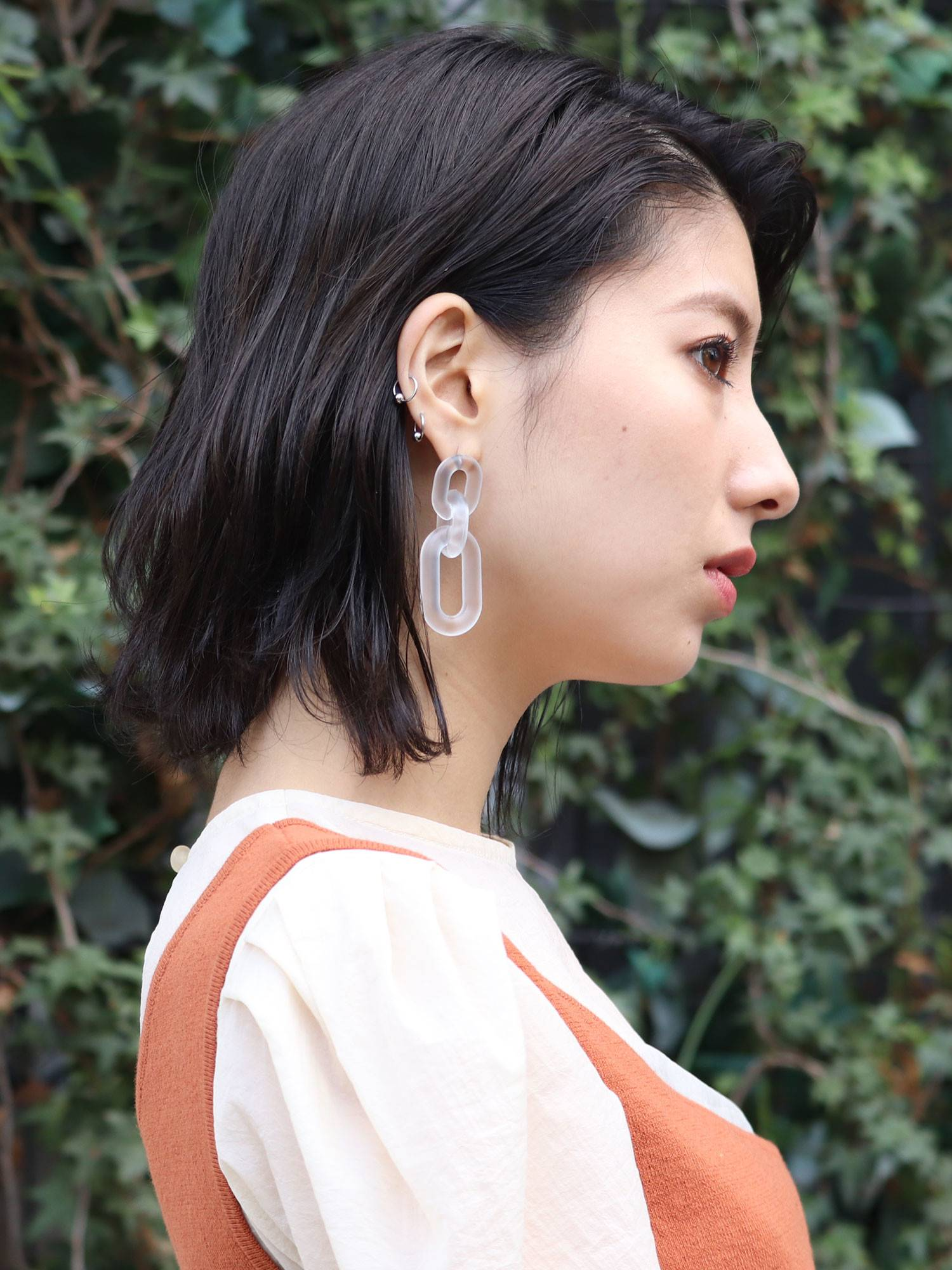 Sheer Chain Earrings