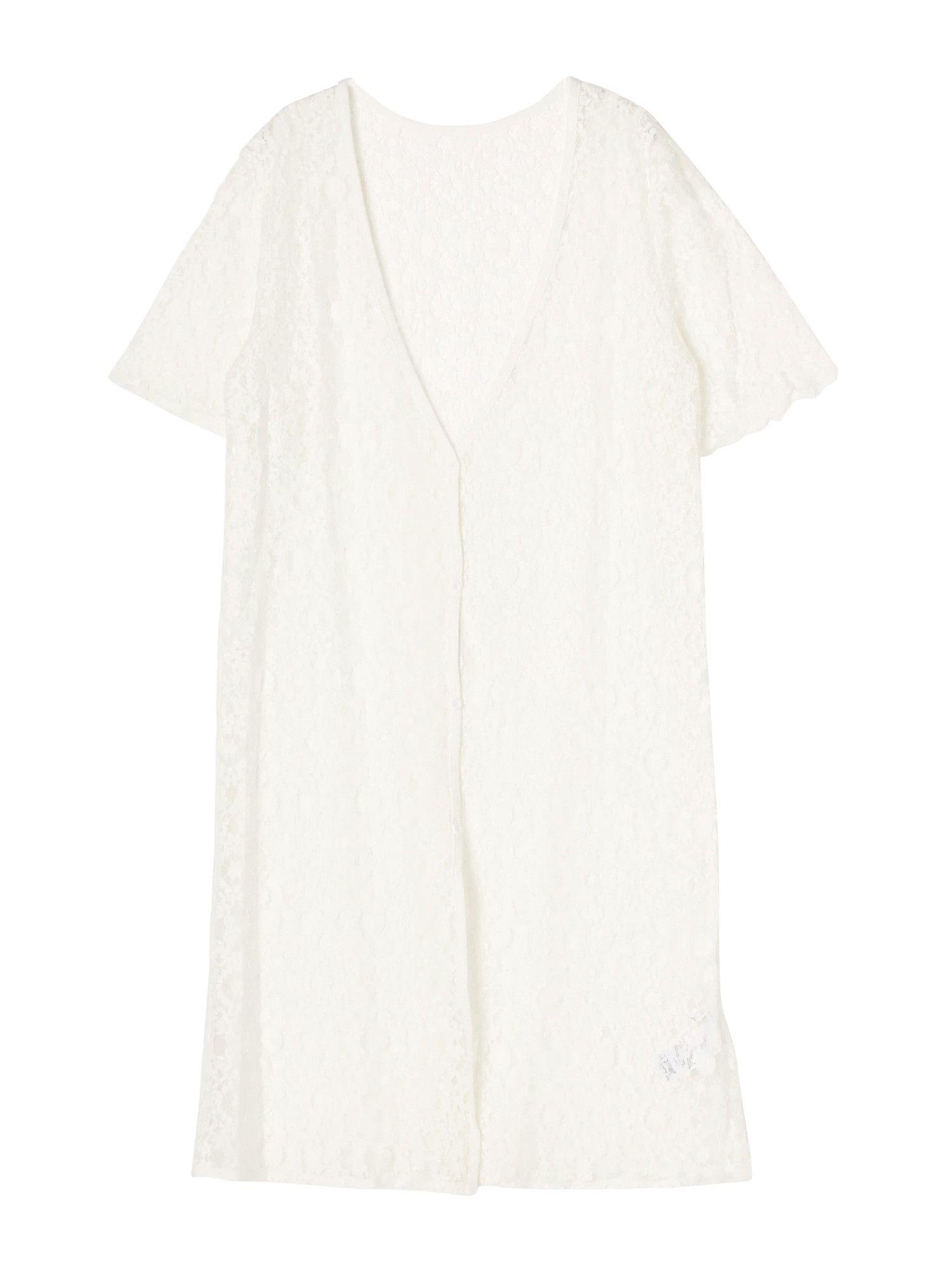 [休闲]无颜色长蕾丝衫