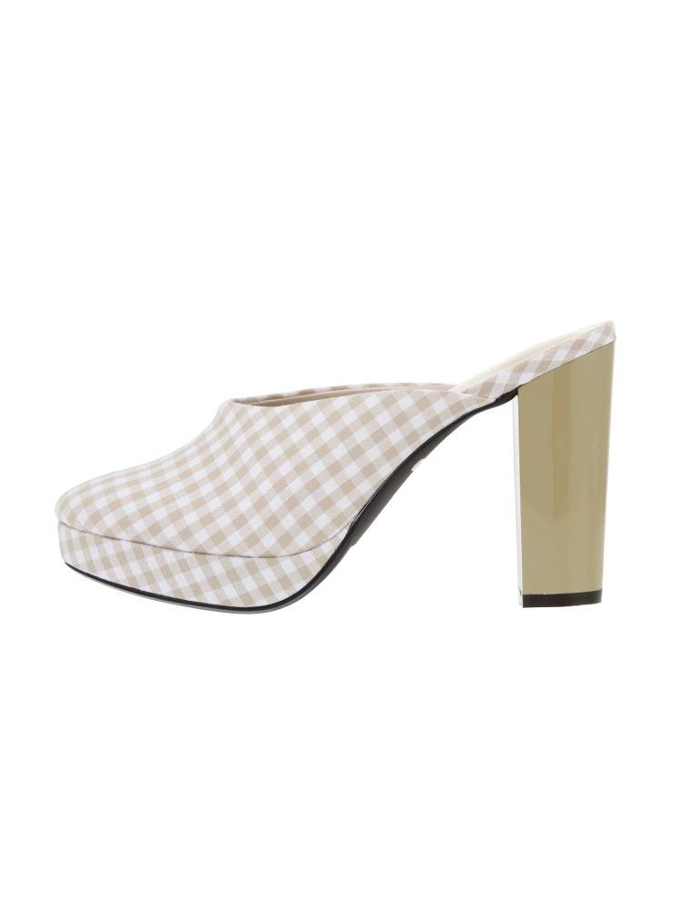 [Goods] gingham backless shoes