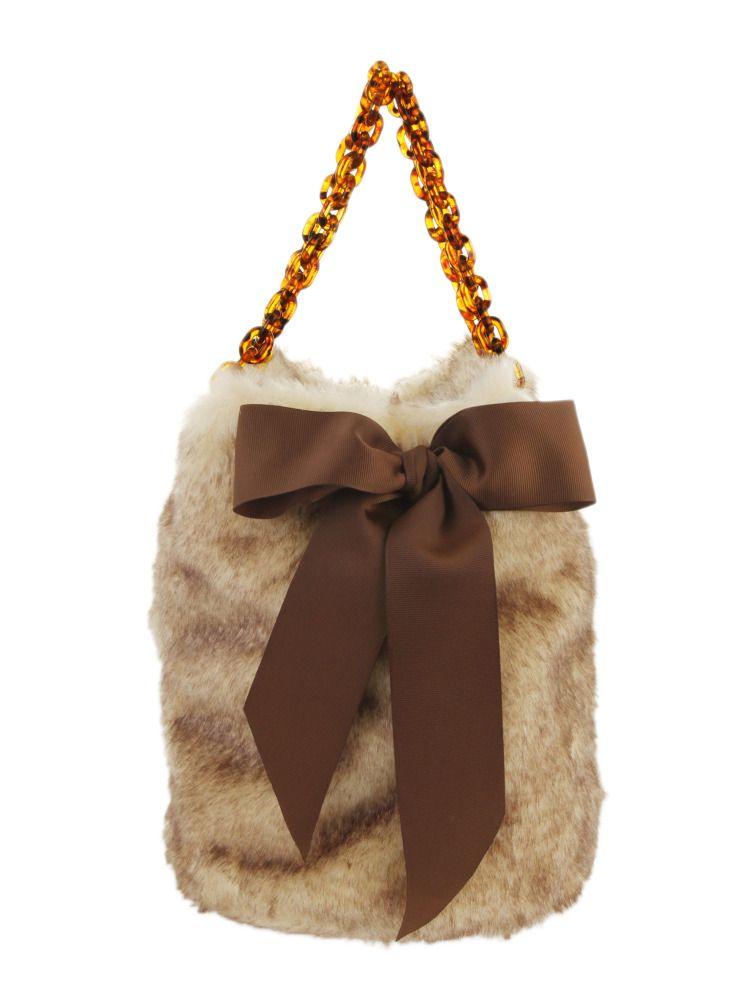 【goods】フェイクファーボリューム巾着BAG