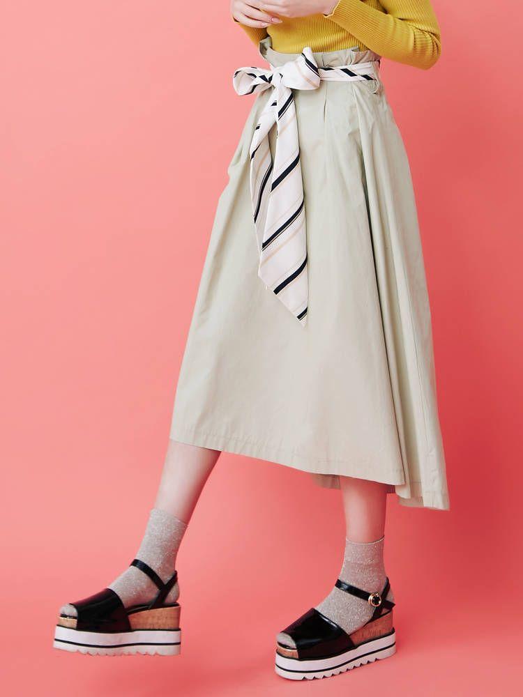 【sw】スカーフ付スカート