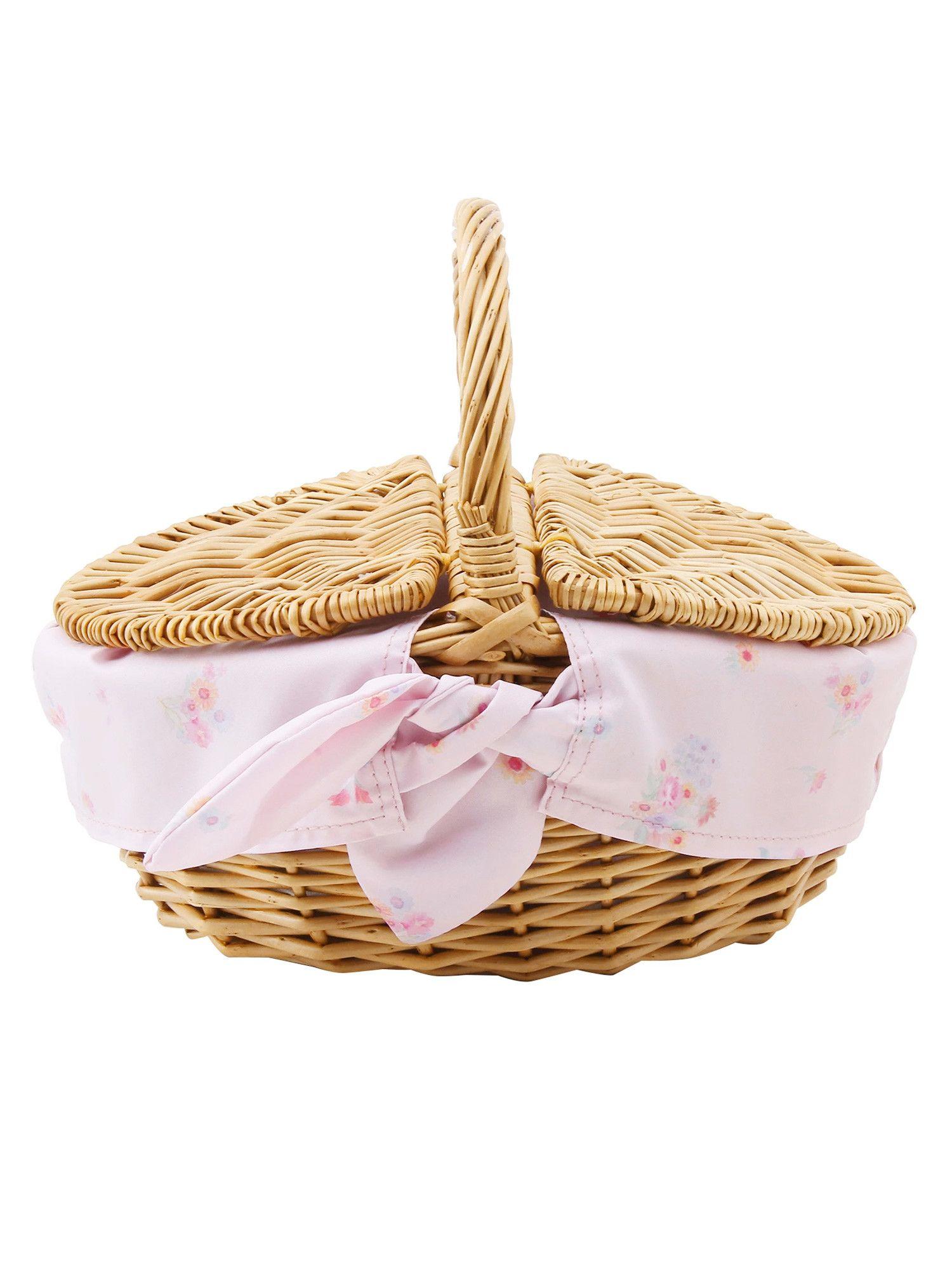 [商品]花围巾篮