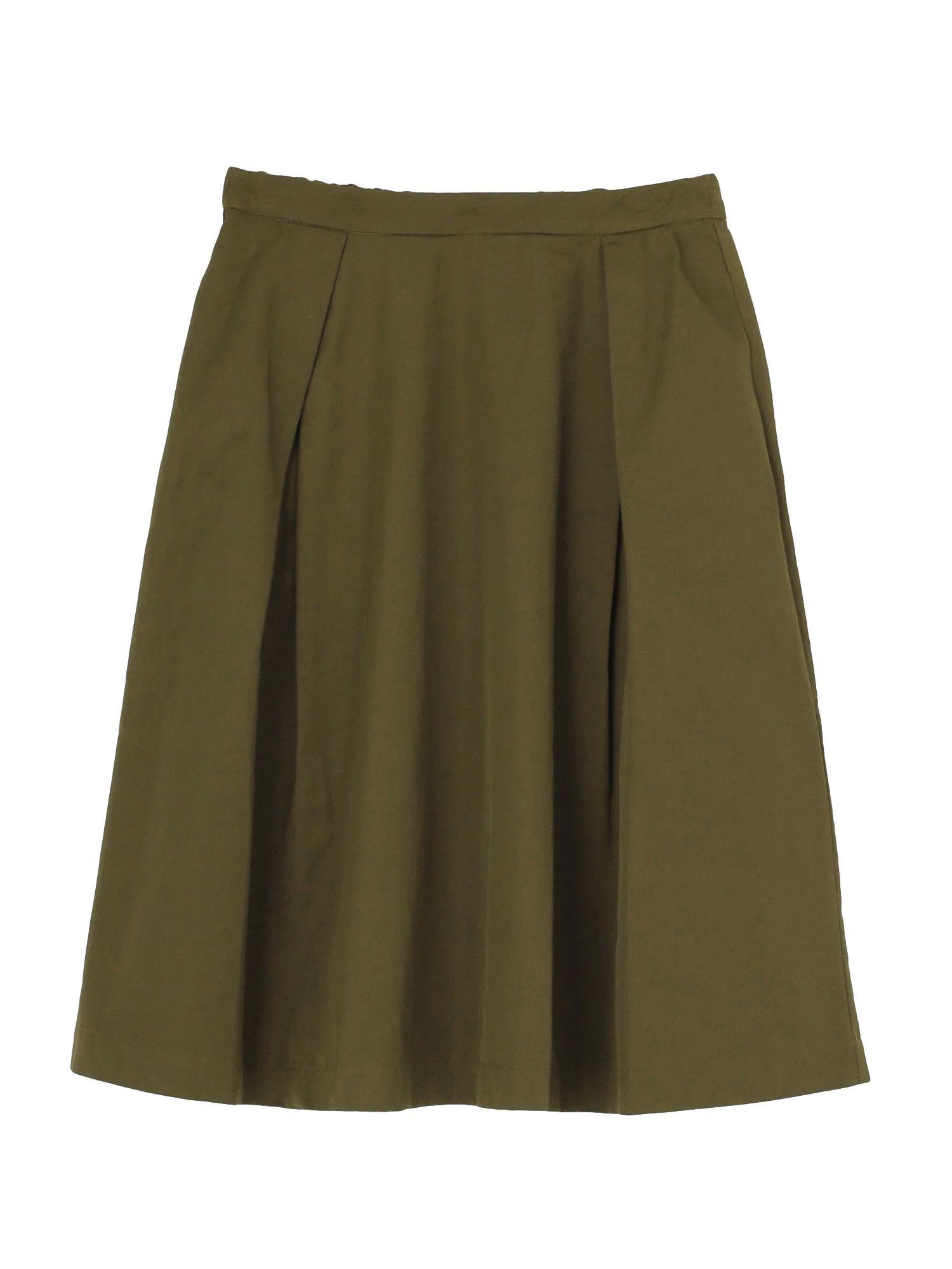 Tuck form flared skirt