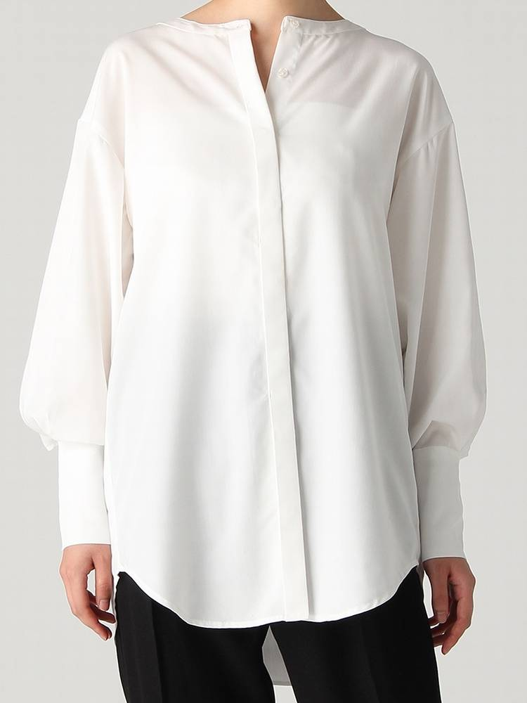 Long cuff No collar shirt