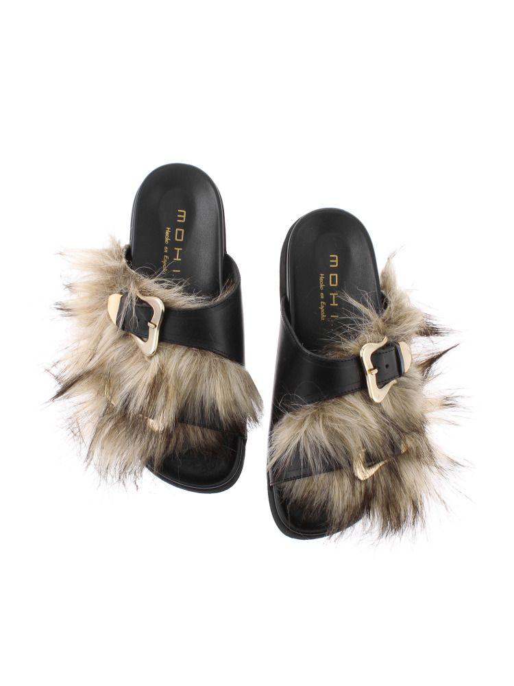 生態皮毛涼鞋