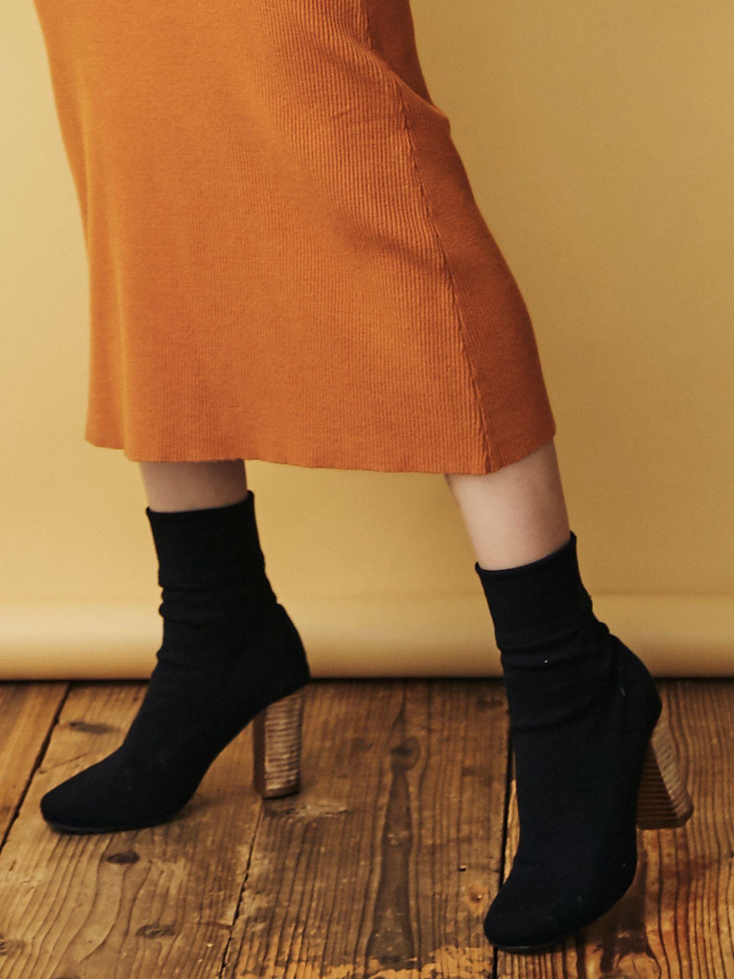 羅紋針織短靴