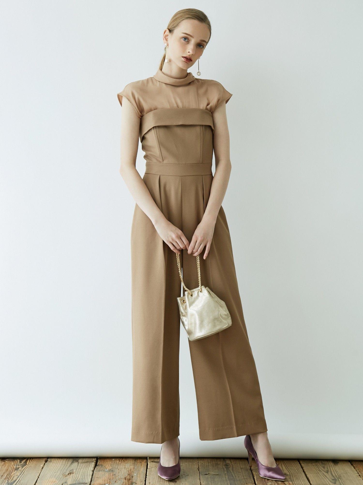 LADY Georgette Bear pants dress