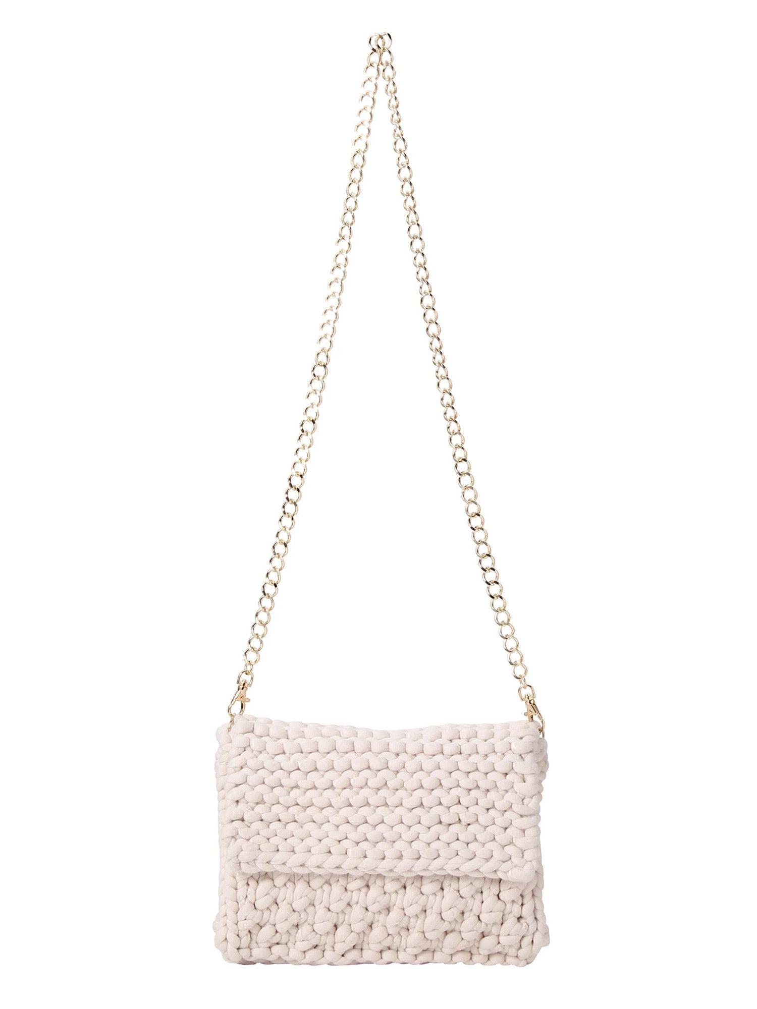 Hand knit pochette
