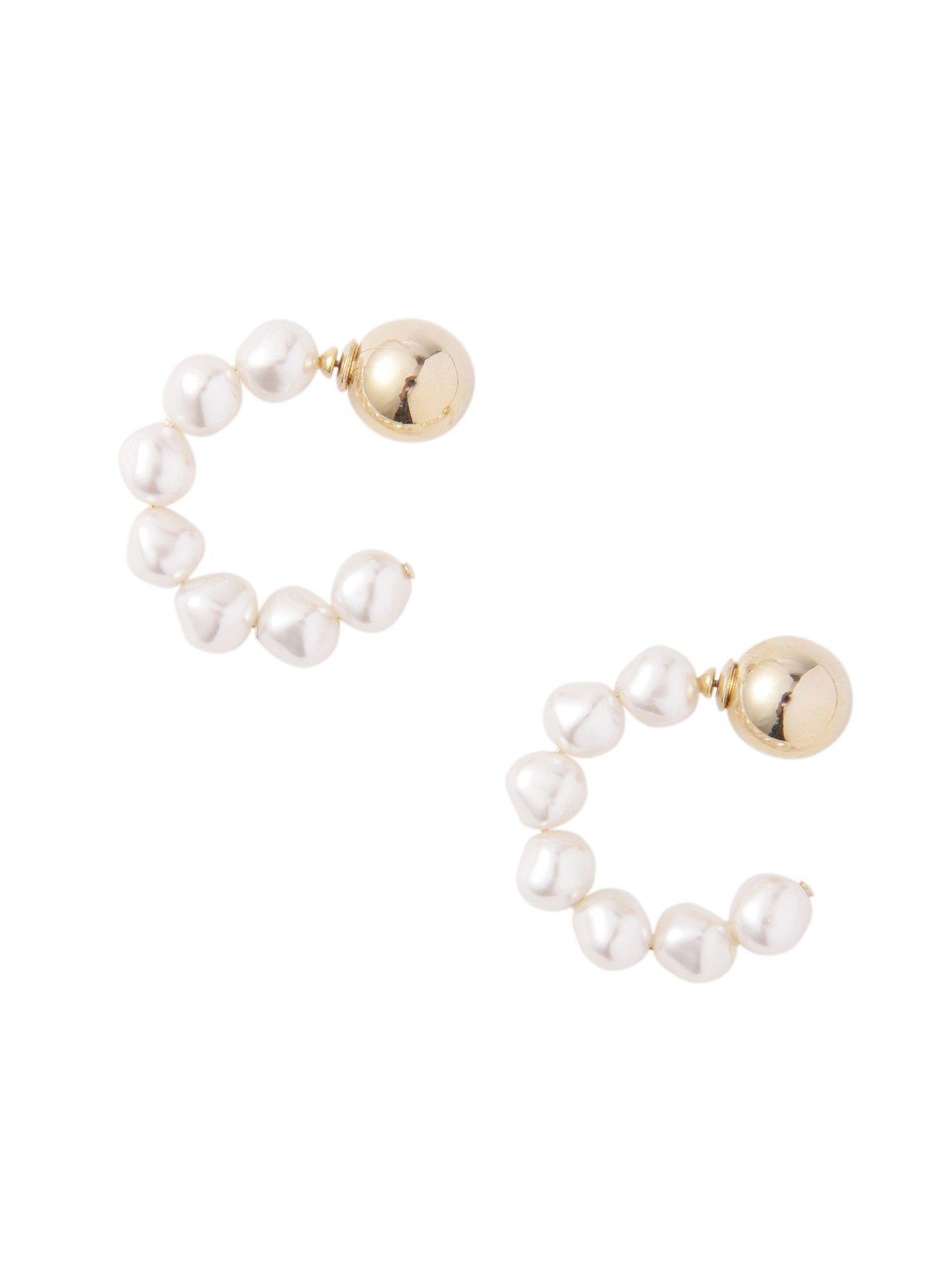 LADY變形的假珍珠耳環