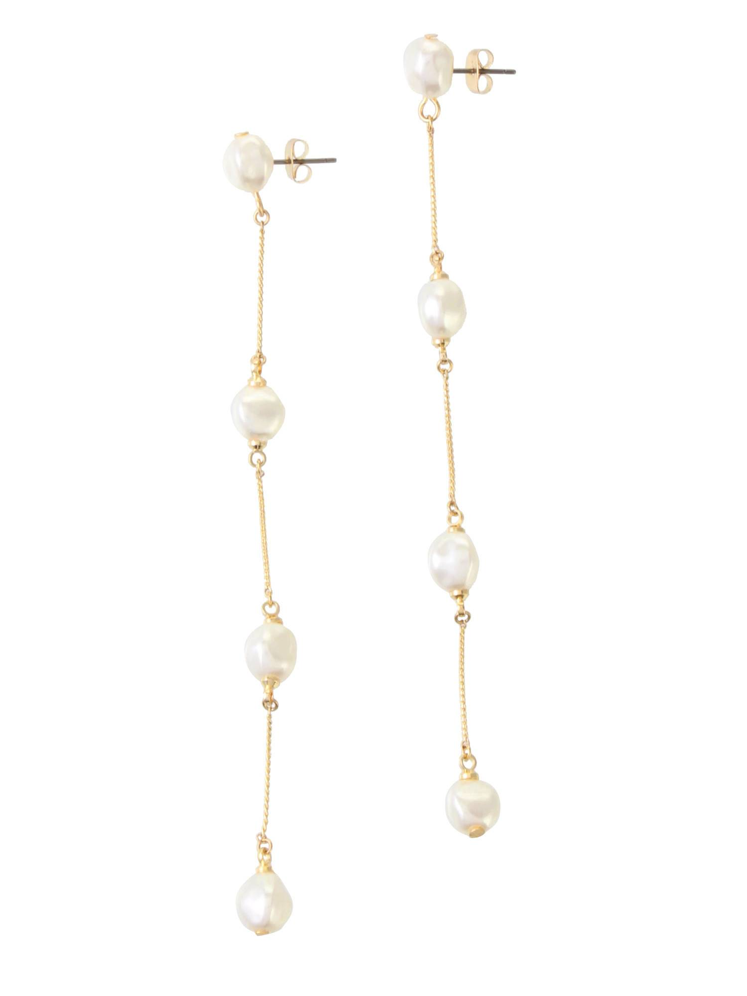 LADY假珍珠耳環鏈