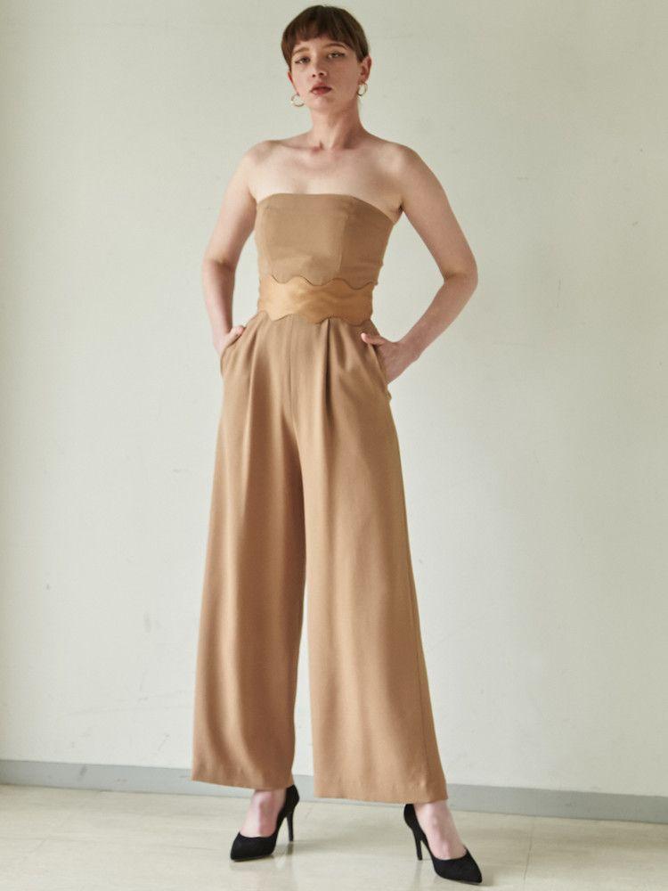 LADYウェーブカッティングパンツドレス