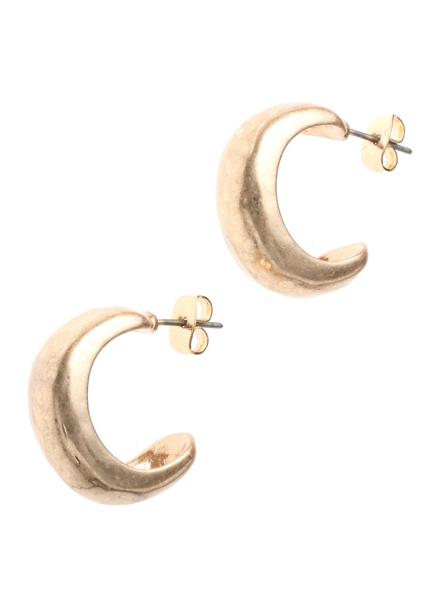 墊圓形耳環
