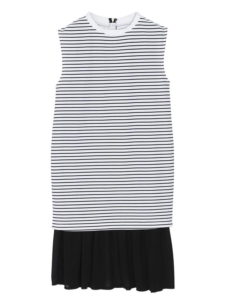 紋波分層連衣裙