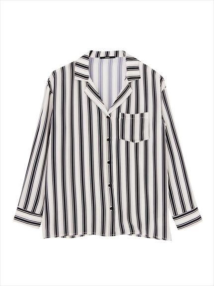 BRIGHT stripe wide shirt