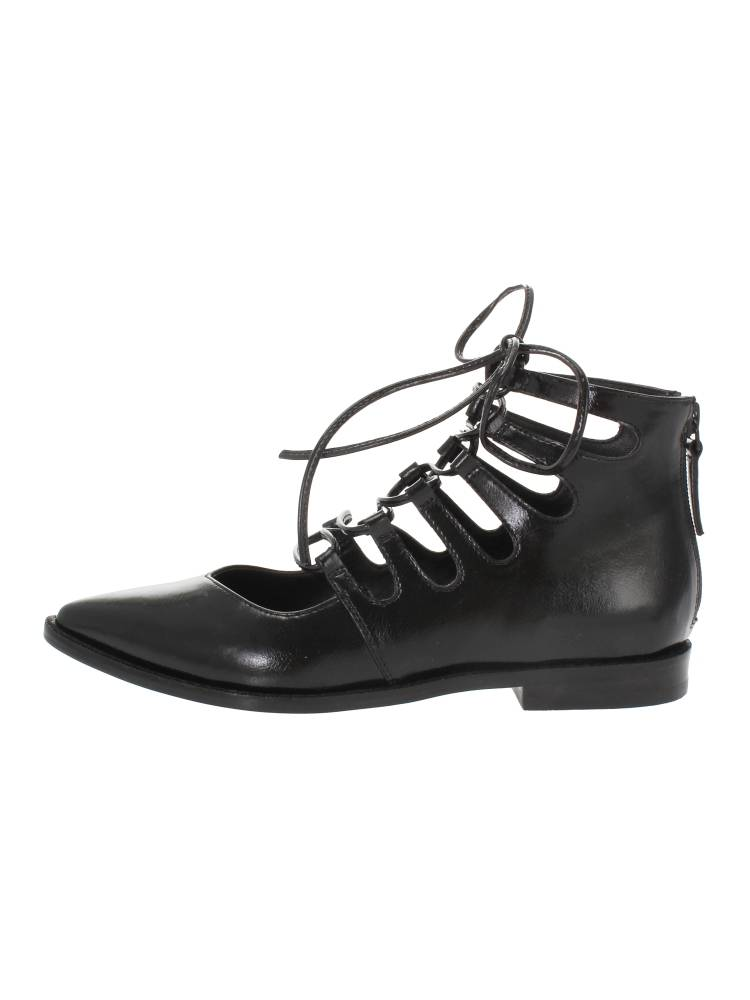 V-cut lace-up boots