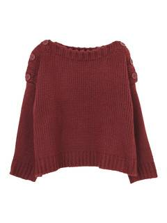 EMODA(エモダ) |BUTTON SHOULDER KNIT TOP 画像08
