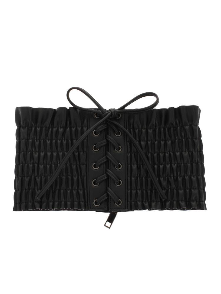 Shearing corset belt