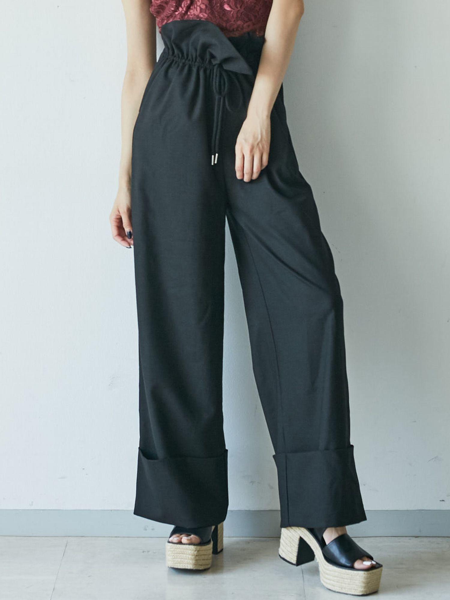 多余的装饰带宽裤
