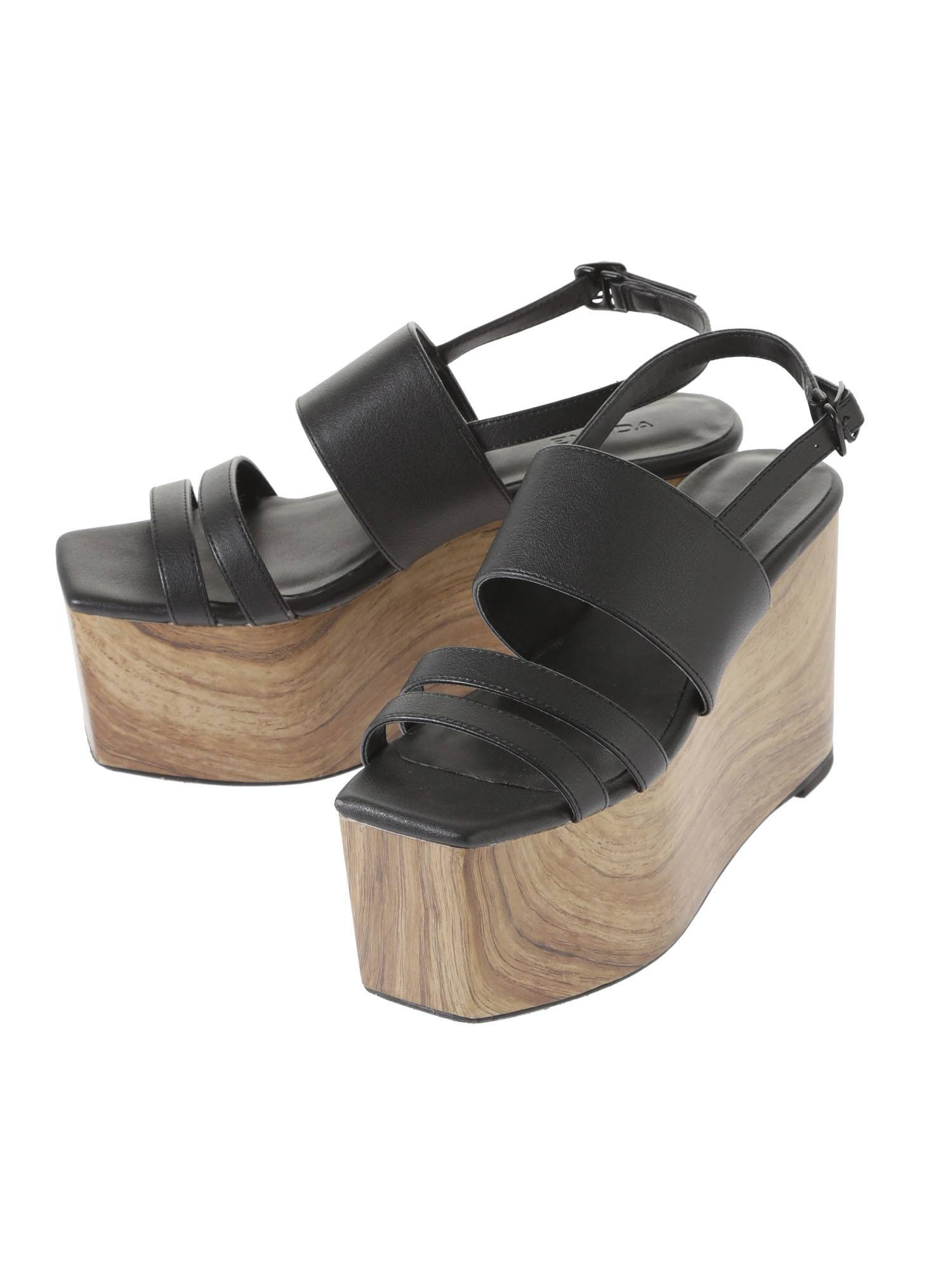 Marble Wood bulky sandals