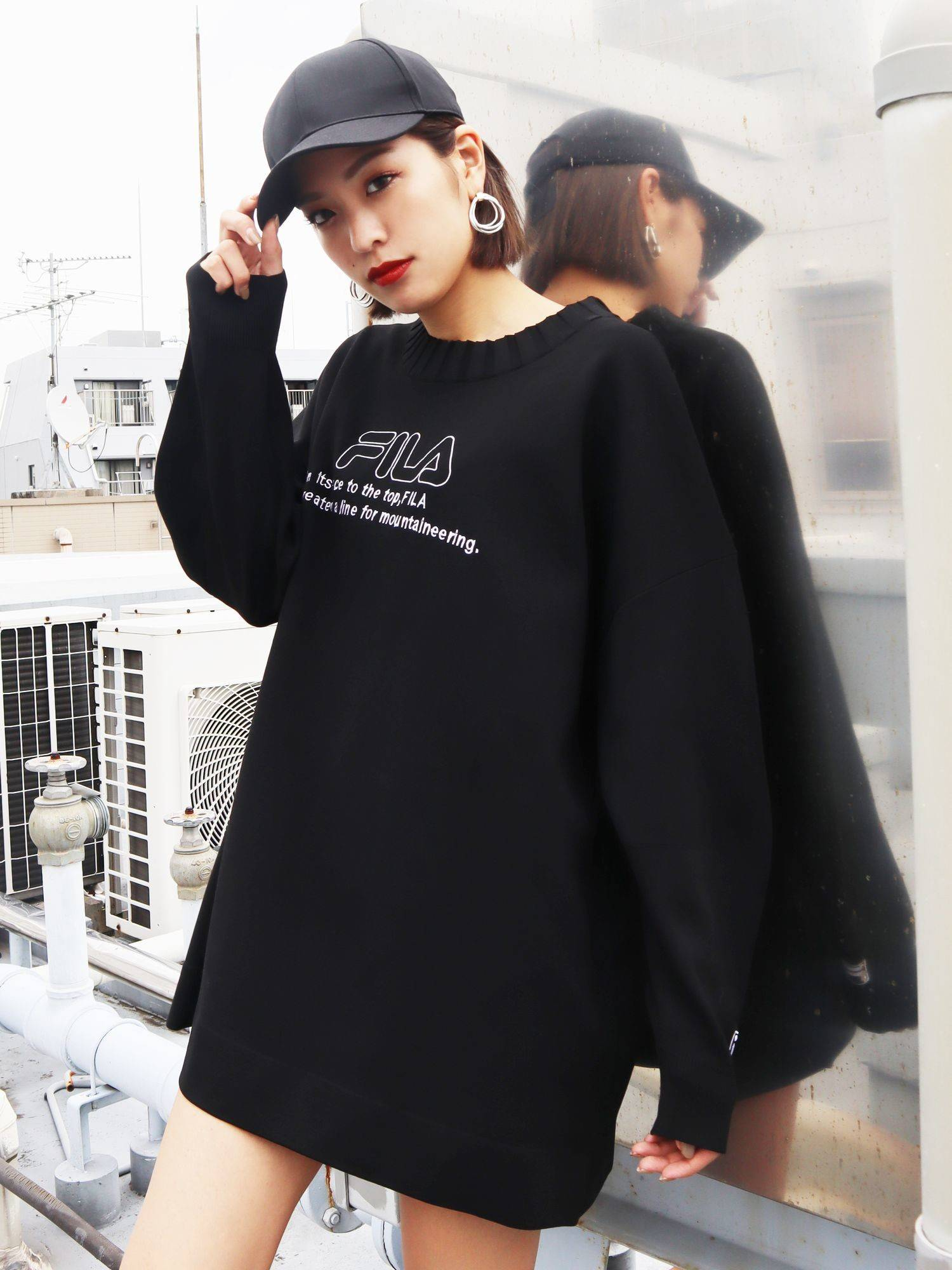 [EMODA×FILA]针织套衫