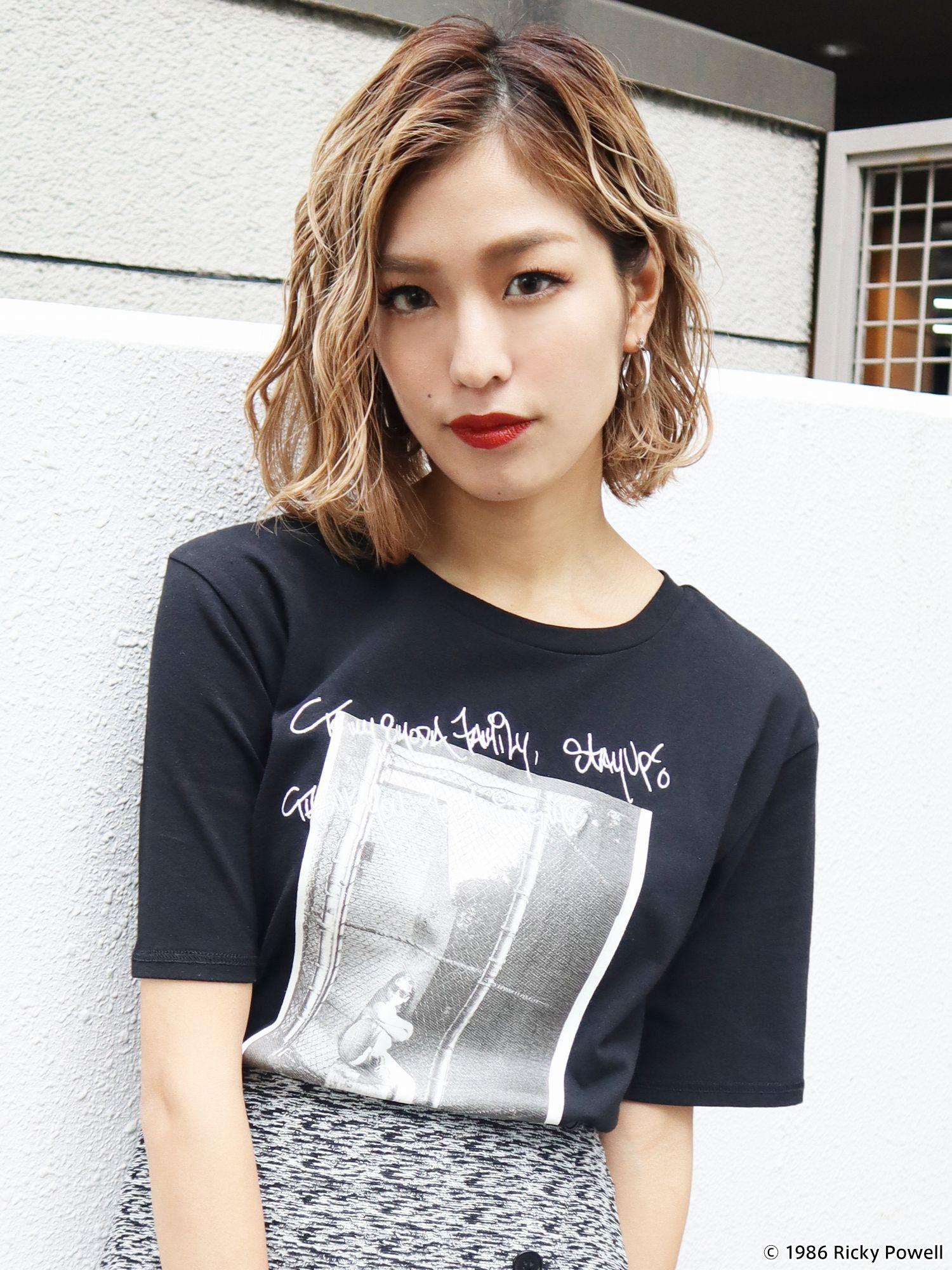 [EMODA×瑞奇鲍威尔]照片图形打印短衫