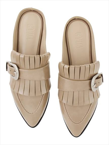 Buckle design slippers