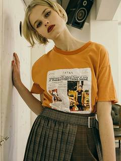 jouetie(ジュエティ) |YOUTH in LONDON NEWS PAPER TEE 画像01