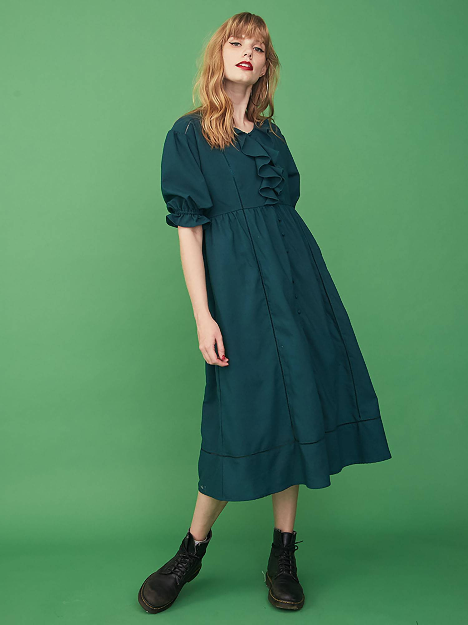 [WEB limited] cotton vintage dress