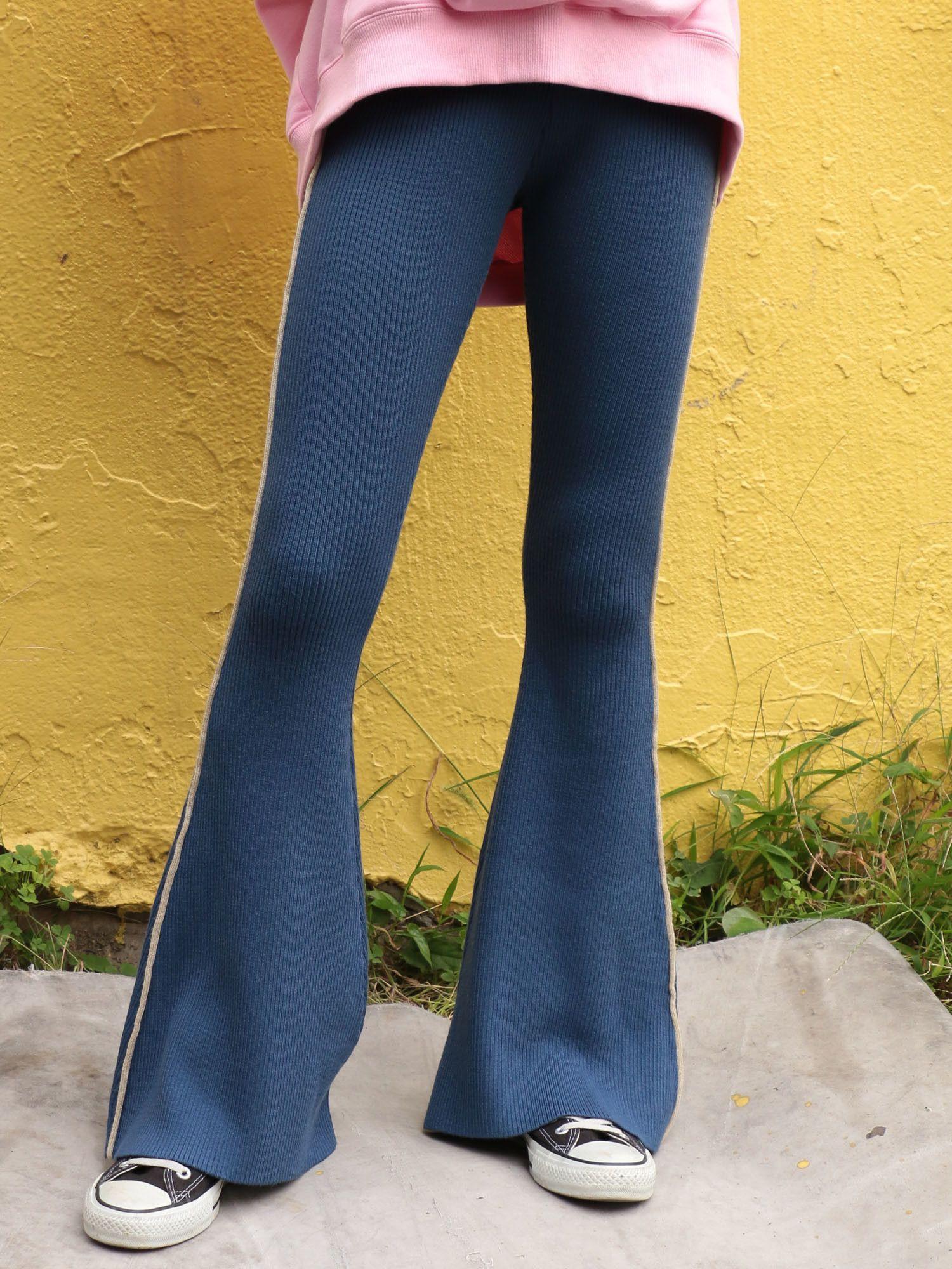 羅紋針織褲子耀斑