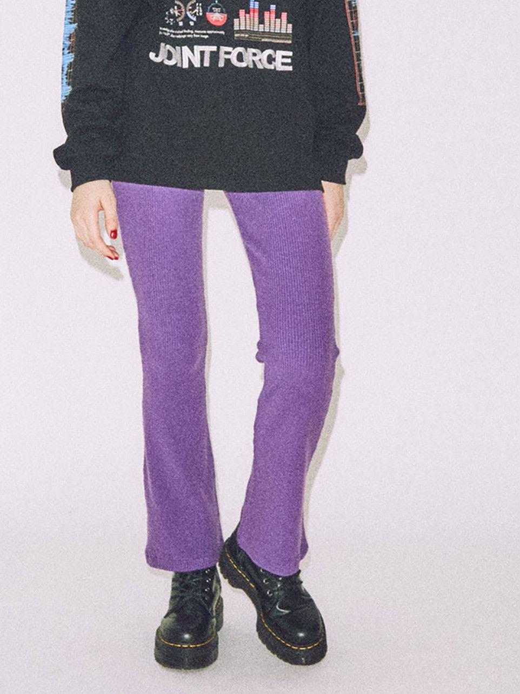 针织罗纹适合耀斑裤子