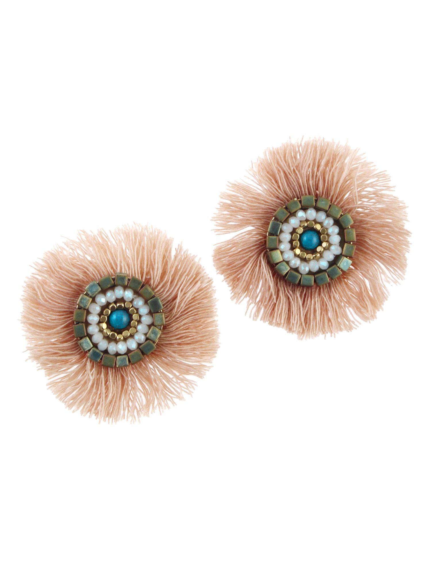 彩色條紋耳環