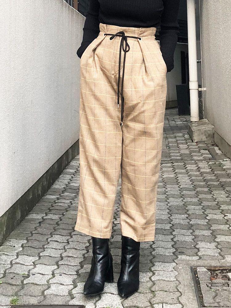 检查设计的裤子