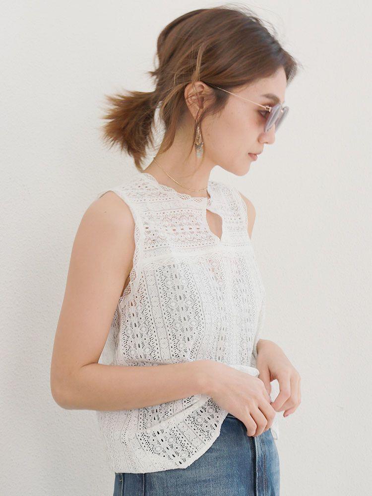 棉质蕾丝上衣Nosuri