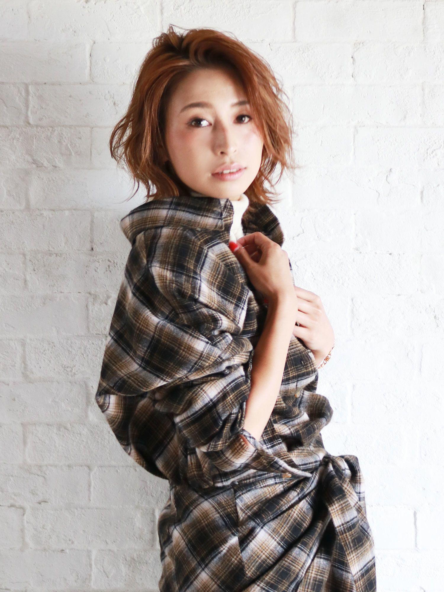 羊毛混紡寬寬鬆鬆格子襯衫